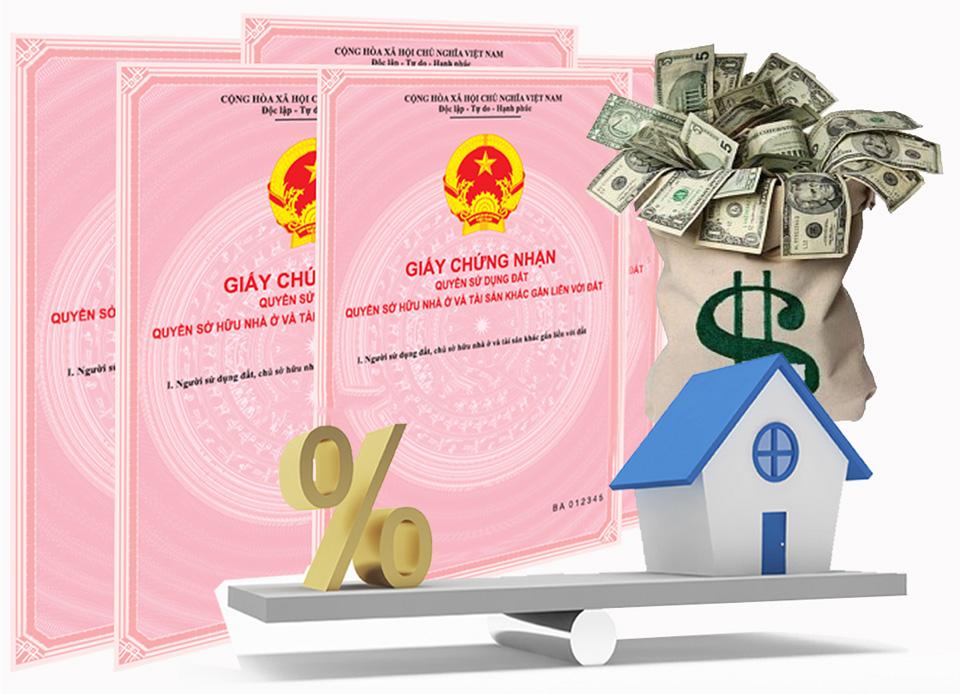 hầu như tất cả các ngân hàng đều có dịch vụ cho vay thế chấp sổ hồng và sổ đỏ